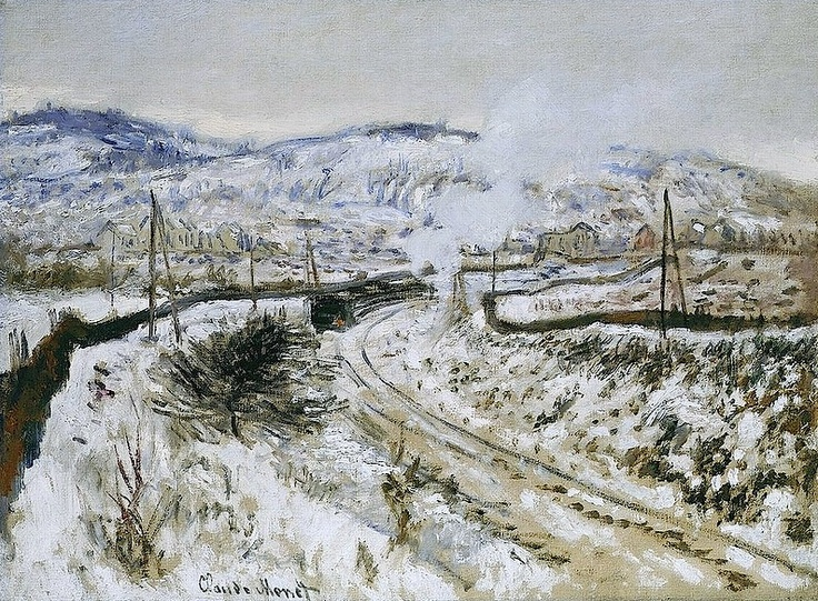 1875, Claude Monet / Train in the snow at Argenteuil