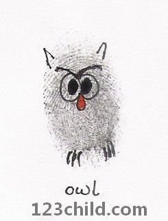 owl- maybe sign a birthday card with owl fingerprints of people at the party.