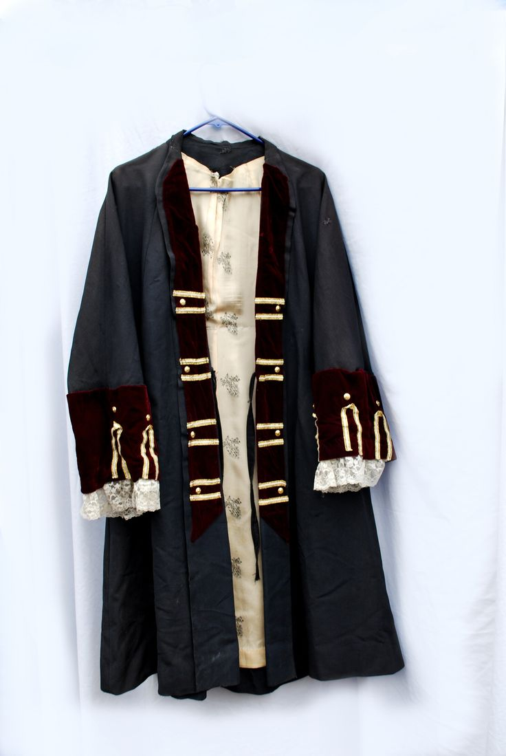 Pirate Frock Burgandy Pirate Jacket Authentic Pirate