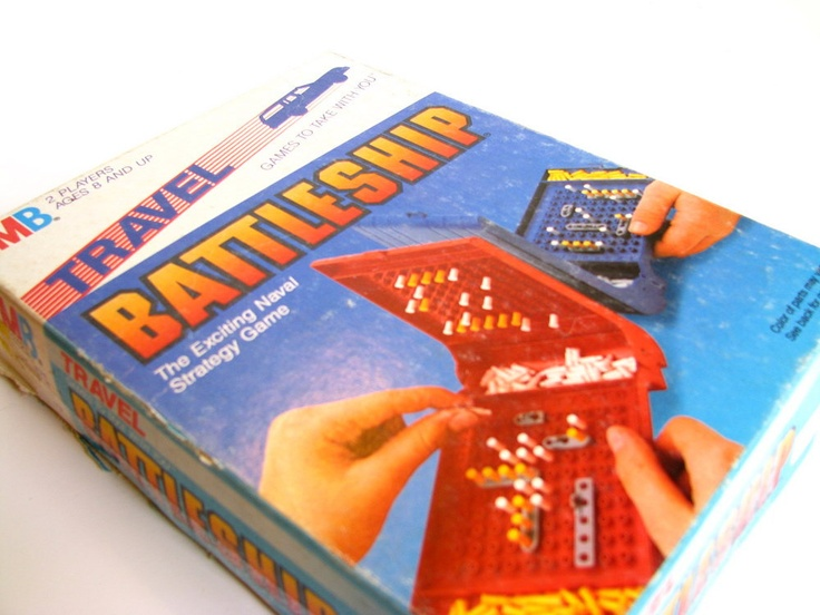Vintage 1980's Travel Battleship Board Game by Milton