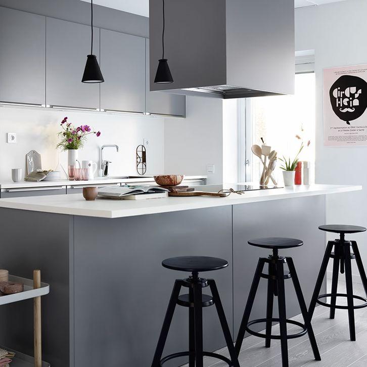 Köksinspiration -  Grått kök - Bistro - Fjäråskupan