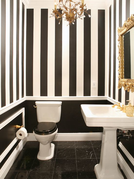 Inspiring Black and White Bathroom Ideas to Make Lively Your Bathroom : Unique Black And White Bathroom Ideas With Black And White Paint Wall And Black And White Toilet Bidet