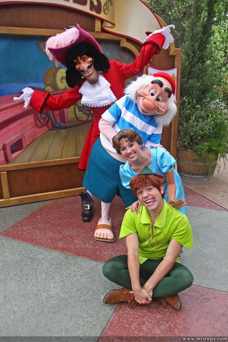 Captain Hook, Smee, Wendy and Peter Pan