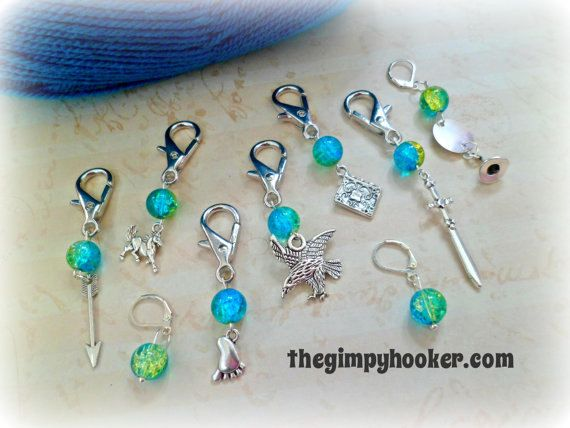 Stitch Markers, Crochet Stitch Marker, LoTR Locking Stitch Markers ...