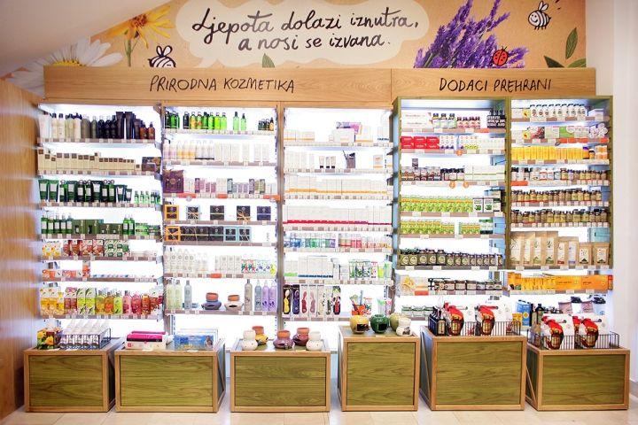 Замечательный интерьер магазина натуральных продуктов bio&bio в Хорватии