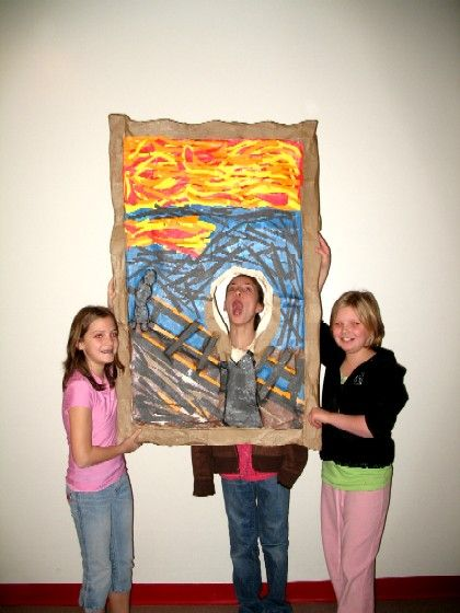 Student groups learn about famous artists and create a giant replica of an art piece (SO FUNNY!)