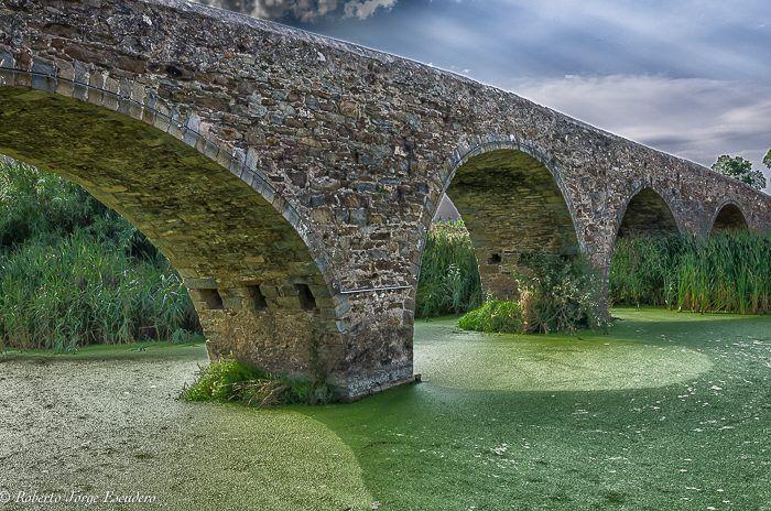 """""""Viejo puente en Gualta"""" de Roberto J. Escudero - Argentina - Agosto/2016"""