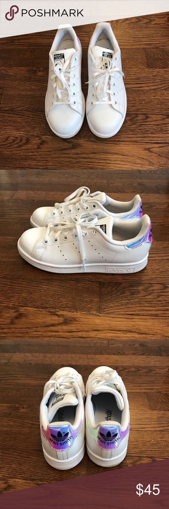 Limited edition Stan Smith All white Stan Smith's with metallic touch! Work twice, amazing condition. No box :) Shoes Sneakers
