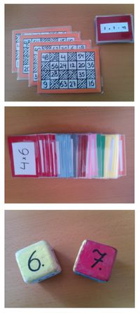 Maak zelf tafeltjes spellen: bingo, flitsen en dobbelen! Sowieso een geweldige site met heel veel tips en materialen!