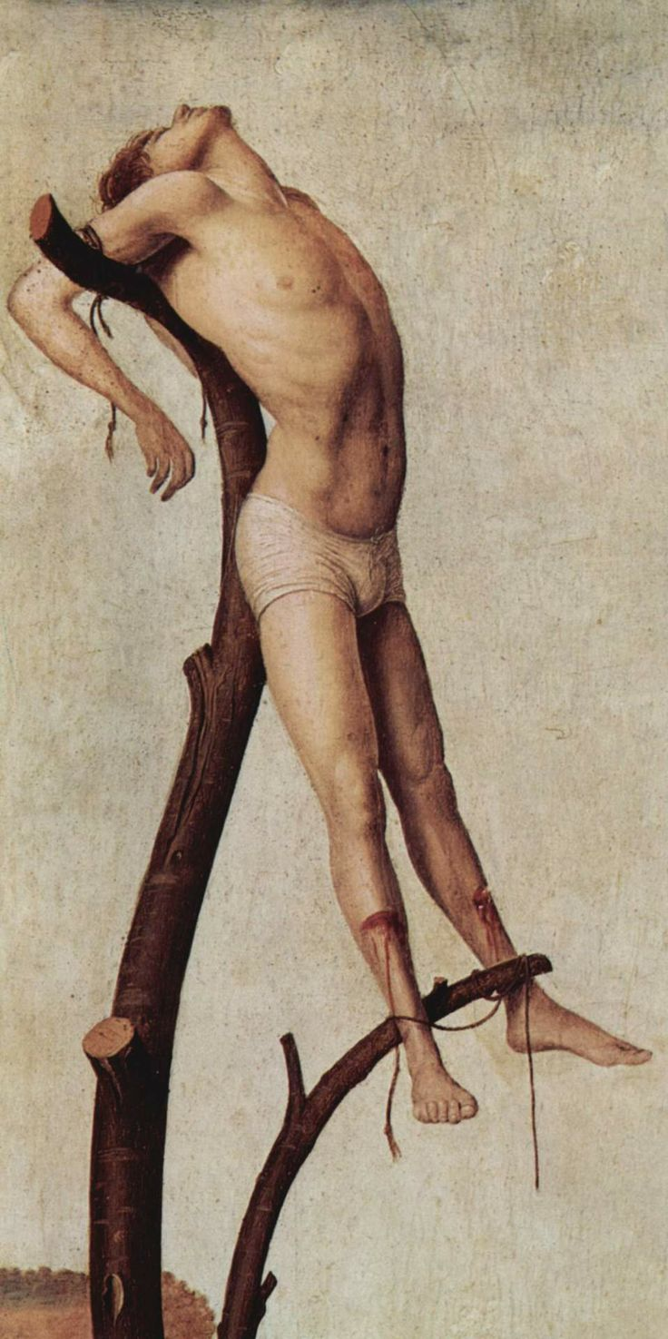 Antonello da Messina - Crucifixion, details, 1455.