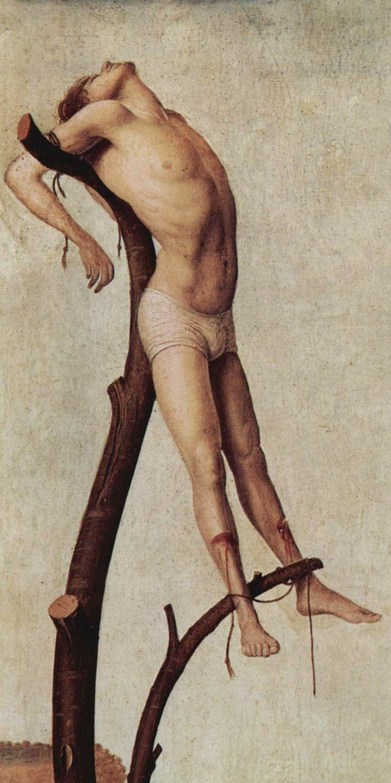 Antonello da Messina - Crucifixion, details, 1455.