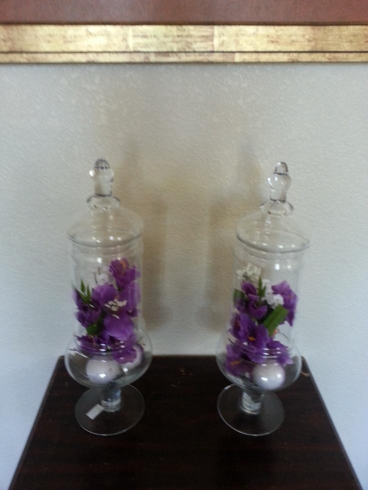 Bridal party table centerpieces