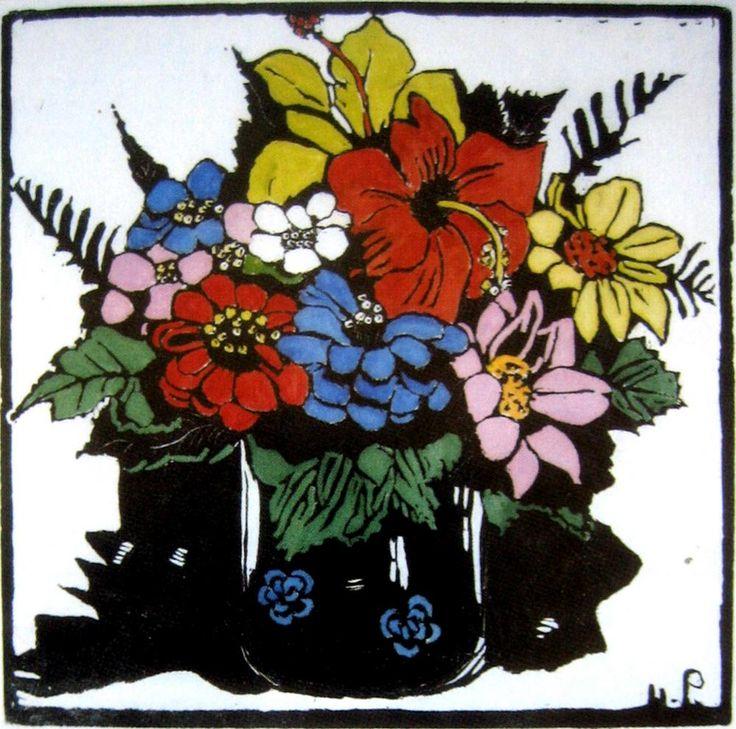 Margaret Preston   Woodblock  'Hibiscus'
