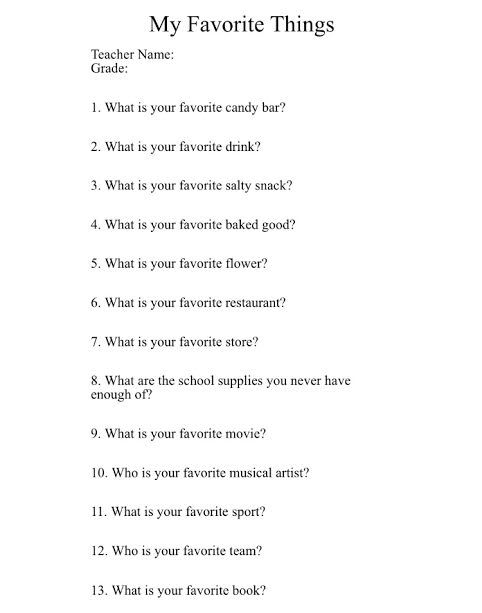 best teacher questionnaire ideas teacher  i loved being involved in teacher appreciation week at the elementary school last year it is one of my favorite volunteer opportunities because i think te