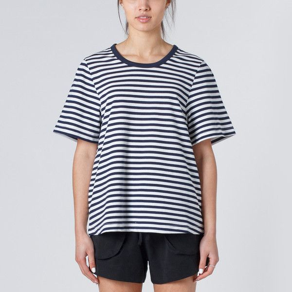 Huffer Sugoi Tee - Navy Stripe | Thanks Store Online
