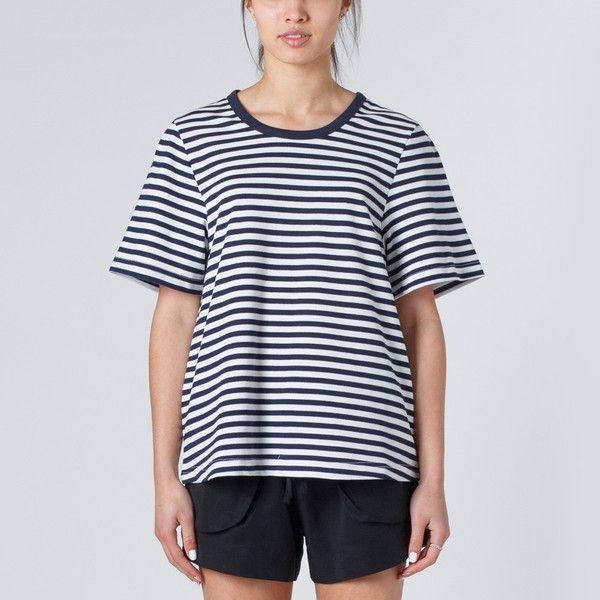 Huffer Sugoi Tee - Navy Stripe   Thanks Store Online