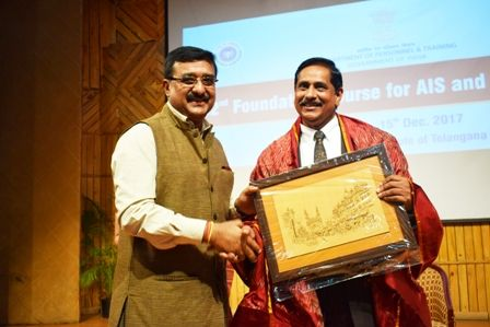 Telangana: MD, Hyderabad Metro Rail Felicitated at Dr. MCR HRD Institute