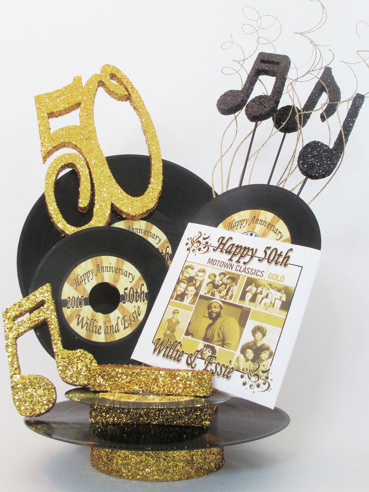 50th anniversary motown centerpiece 60 s party for Decoration 60th birthday party