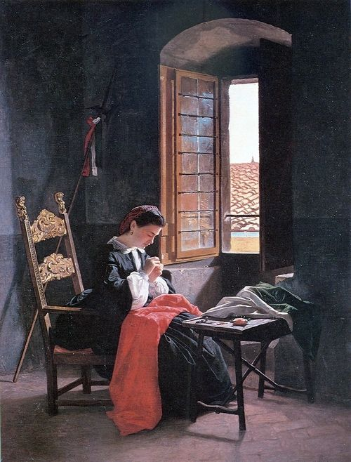 """""""26 April 1859 in Firenze"""", 1859, by Odoardo Borrani (Italian, 1833-1905)"""