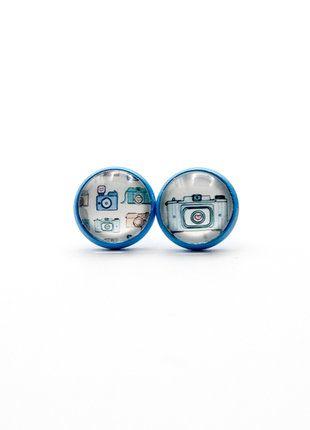 À vendre sur #vintedfrance ! http://www.vinted.fr/accessoires/boucles-doreilles/35026673-mignonnes-puces-boucles-doreilles-cabochon-appareil-photo-rock-kawaii #kawaii #pop #photographie #handmade #earring #boucledoreille #mignon #bleu #romantique #bijoufaitmain #bijoucreateur #france