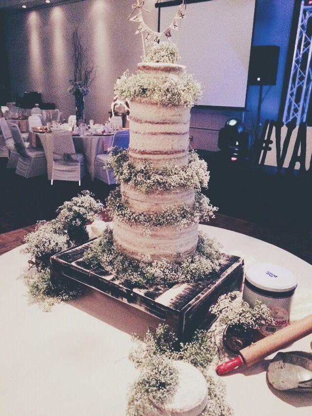 #Rustic #wedding #cake #nakedcake