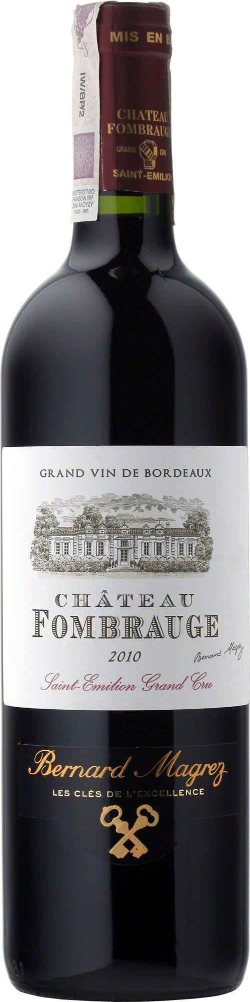 Chateau Fombrauge G.C.C. Saint-Emilion Głęboka, lśniąca, rubinowo-purpurowa suknia, bogate nuty konfitury z czarnych porzeczek i wiśni, czekolady, likworu i wanilii. Wino solidnie zbudowane, dobrze zrównoważone o gładkich taninach. #Wino #Bordeaux #Winezja #Saint-Emilion