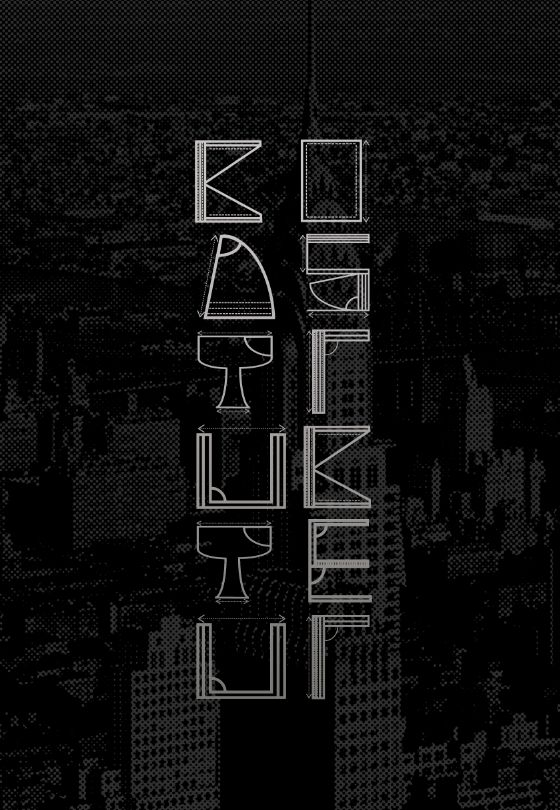 #Type #Typography #Design  Typography made out of blue prints.