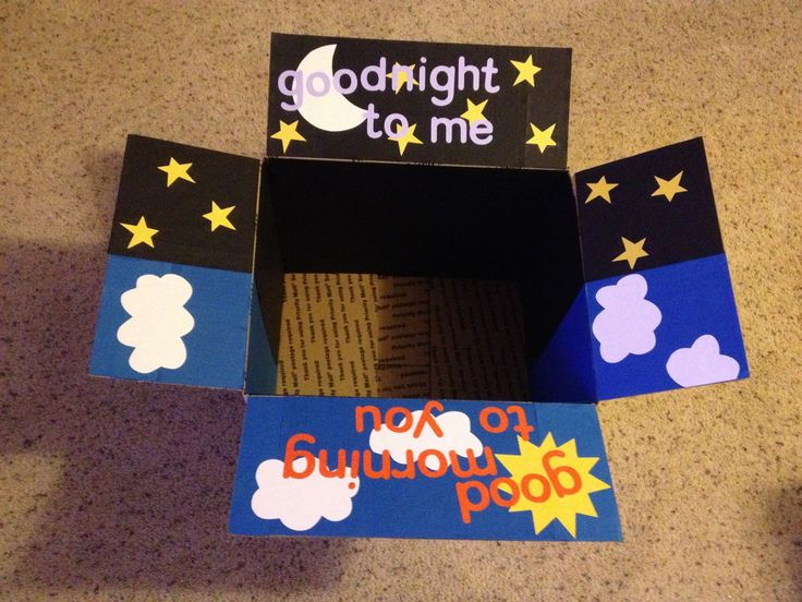 Goodnight Good morning care package -definitely doing this when I send gifts to my niece  nephew!                                                                                                                                                                                 Mais