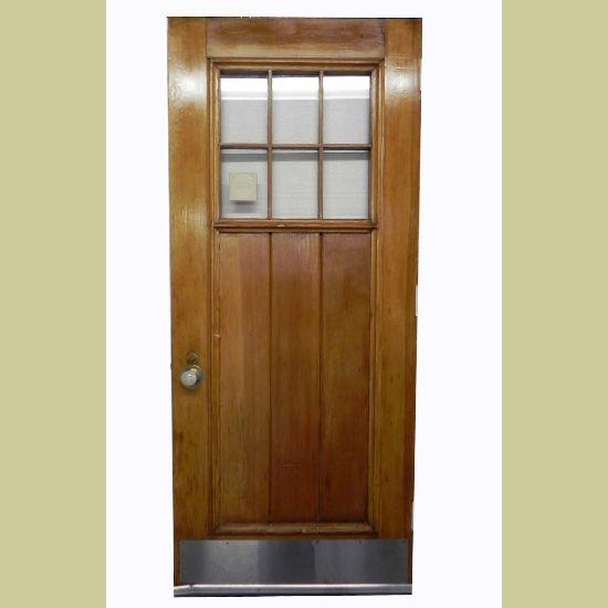 VINTAGE ARTS u0026 CRAFTS PINE PLANKED ENTRY DOOR WITH 6 PANES  Architectural Artifacts - Toledo & 86 best * exterior doors * images on Pinterest | Exterior doors ... pezcame.com