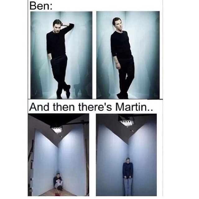 Lol! Martin Freeman is too cute and awesome! And Benedict Cumberbatch looks so damn sexy!
