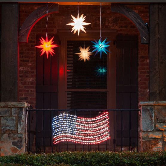 104 best patriotic lights and decor images on pinterest christmas lights patriotic crafts and patriotic decorations - American Flag Christmas Lights