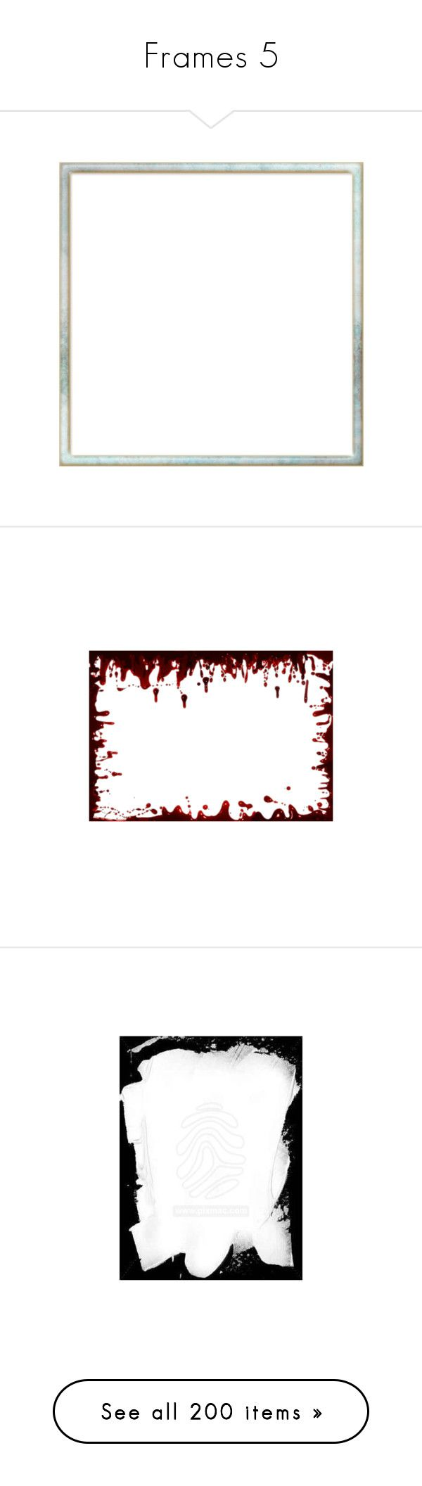 """""""Frames 5"""" by susan-holsclaw ❤ liked on Polyvore featuring frames, borders, cornici, backgrounds, outline, picture frame, blood, red, effects and ramki"""
