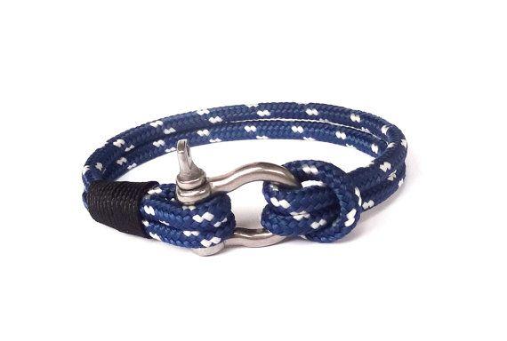 FREE SHIPPING, Nautical bracelet, Mens bracelet, Mens anchor bracelet, Nautical Rope bracelet, paracord bracelet,bracciale stile nautico