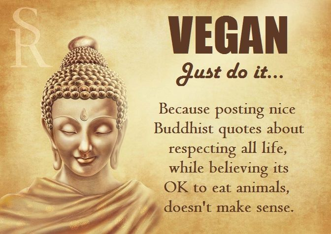 Vegan… Just Do It …Because Posting Nice Buddhist Quotes