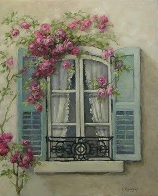 ✿Flowers at the window  door✿