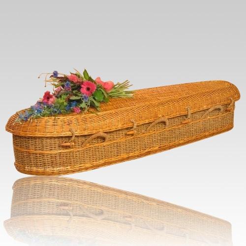 Woven Basket Casket : Best coffins images on hamper rattan and