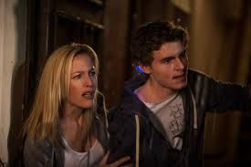 Gillian Anderson and Callan McAuliffe in Robot Overlords
