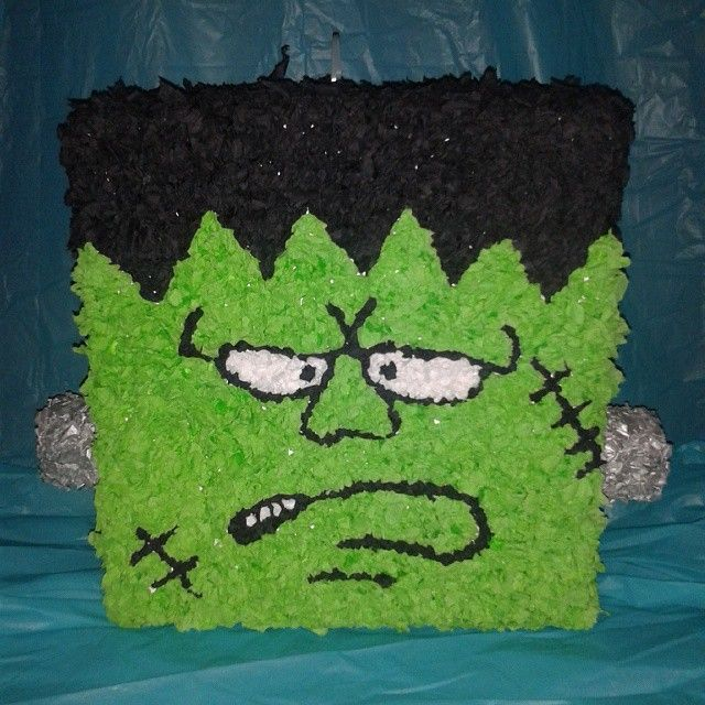 It's a live, it's a live! My newest creation is finally alive! Monster Pinata…