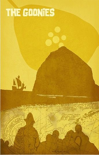 The Goonies (1985) ~ Minimal Movie Poster by Daniel Price #amusementphile