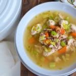 Lemony Chicken Quinoa Soup With Homemade Bone Broth | Elizabeth Rider