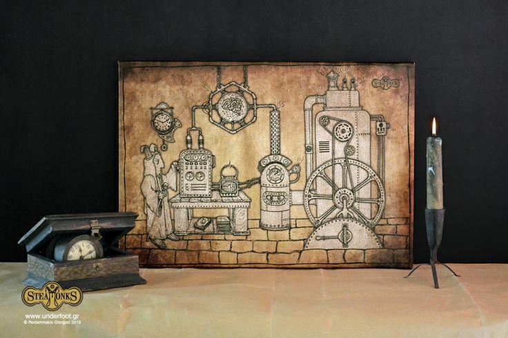 "Steamonks ""Brainchanger"" - Canvas Print http://steamonks.underfoot.gr/steamonksart/"