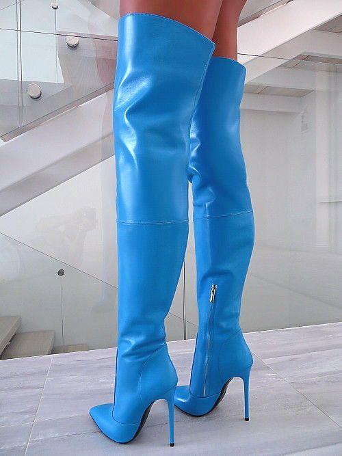 Hochhackige LederStiefel  Damenstiefel Trends 2019   High boots ... a9f898008e