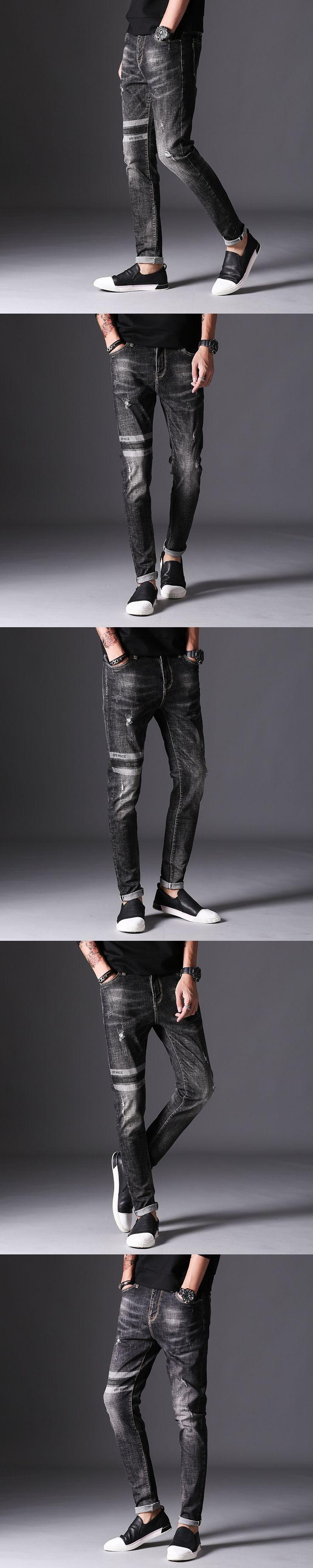 Sale Jeans Men Robin Biker Mens Distressed Overalls Fashion Jean Skinny Designer Clothes Brand Clothing Slim Full Length Solid