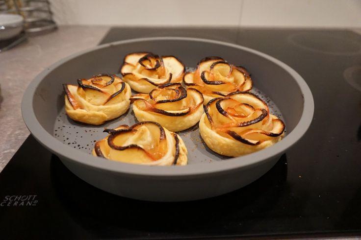 pommes au four - recette sucrée - fleurs de pommes - Rose de pommes