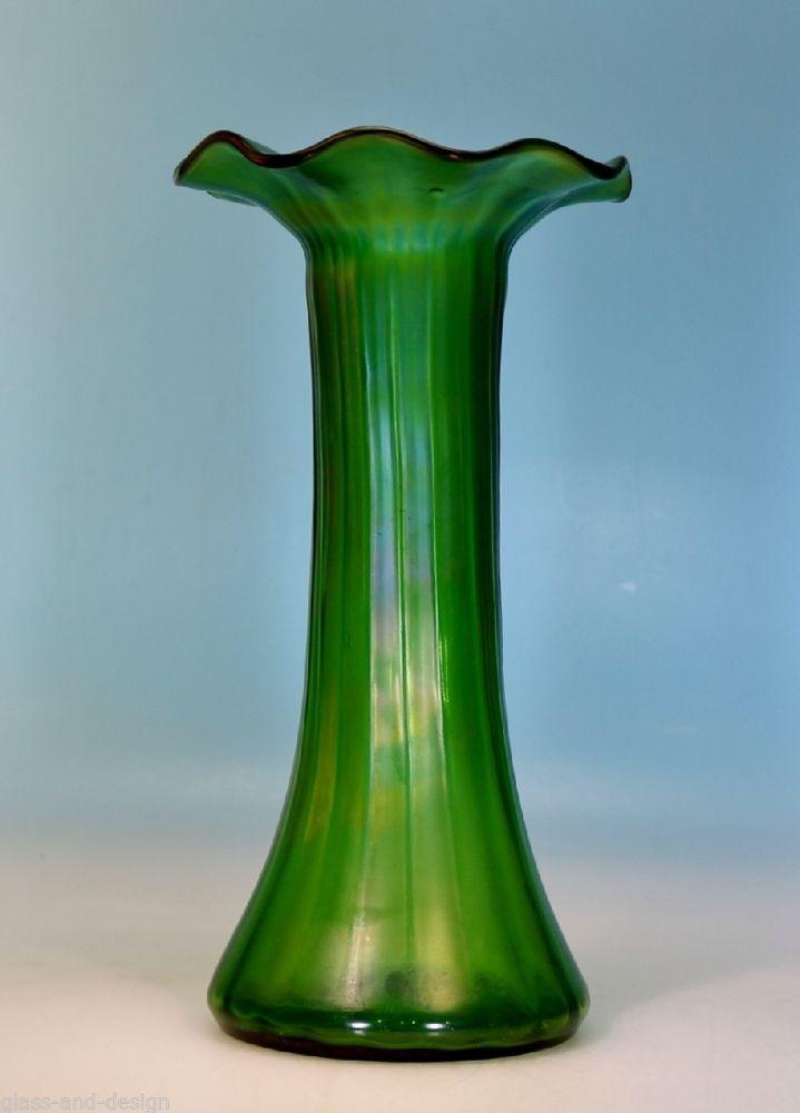 Lötz Jugendstil irisierende große Vase Loetz 299E