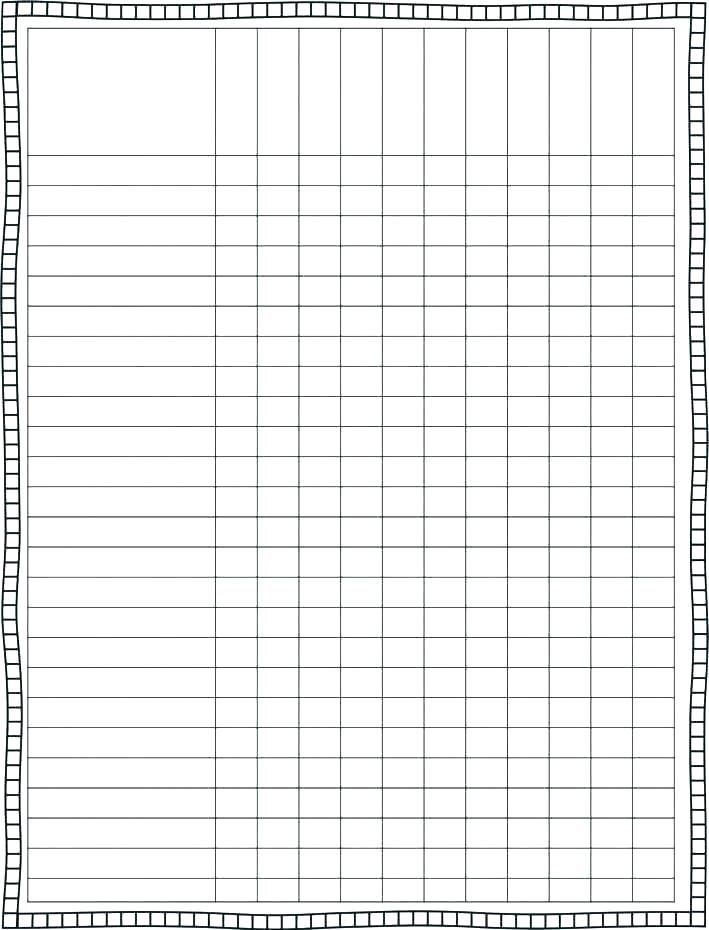 Blank Checklist Template Pdf Editable Checklist Template Word Task