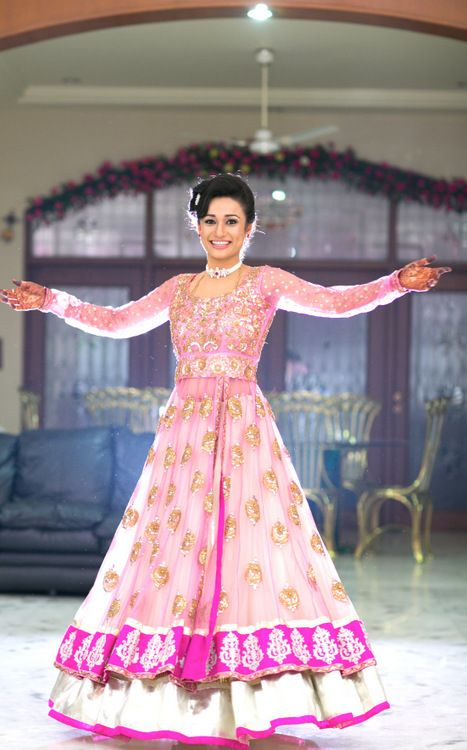 Bridal Lengha in Pretty Pink!