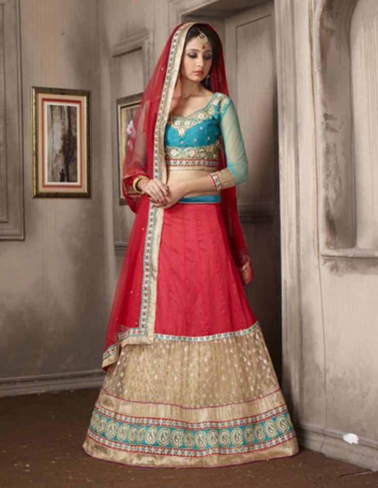 Punjabi Bridal Lehenga at Mirraw.