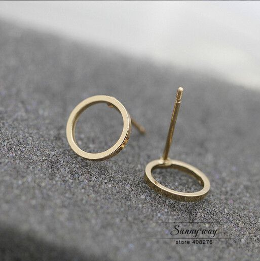 0,50 EUR, inkl. Versand: Free shipping Cute Round Circle Studs Earrings  wholesale HY-in Stud Earrings from Jewelry & Accessories on Aliexpress.com | Alibaba Group
