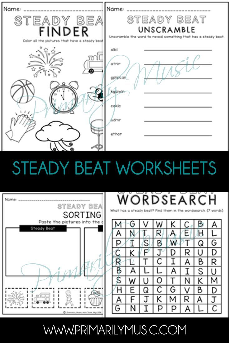 Check out these worksheets that will help your scholars understand Steady  Beat!   Steady Beat Activitie…   Steady beat lessons [ 1102 x 735 Pixel ]